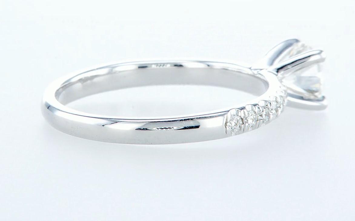 14 kt. White gold - Ring - 0.68 ct Diamond - Diamonds - Image 5 of 6