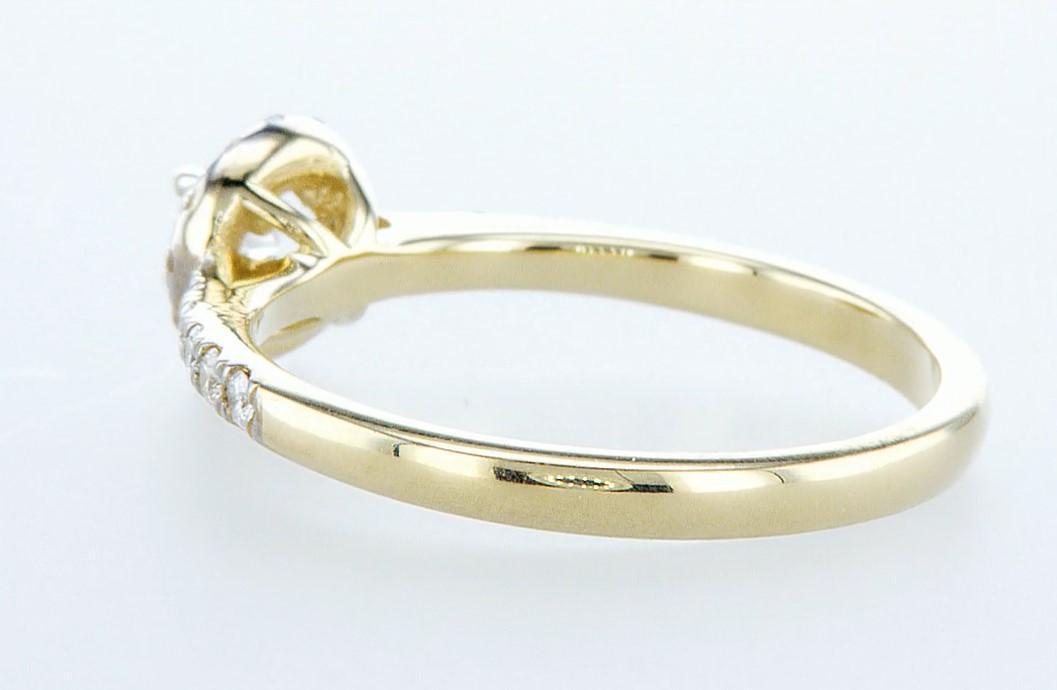 14 kt. Yellow gold - Ring - 0.61 ct Diamond - Diamonds - Image 4 of 6