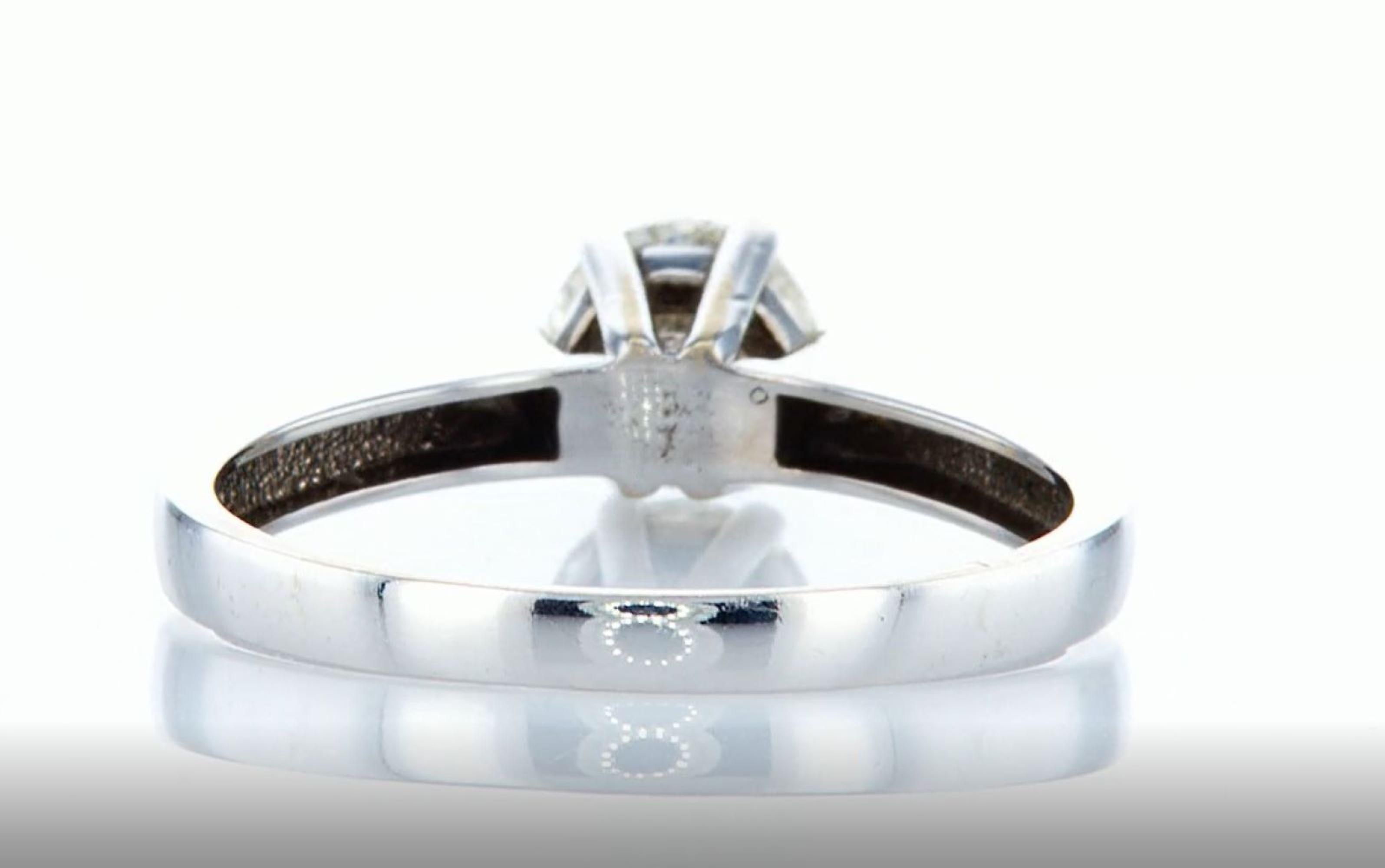 14K White gold ring 1.05CTW - Image 4 of 7