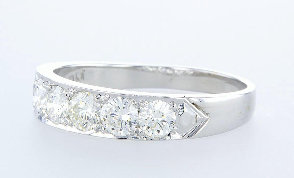 14 kt. White gold - Ring - 1.15 ct Diamond - Diamonds - Image 3 of 5
