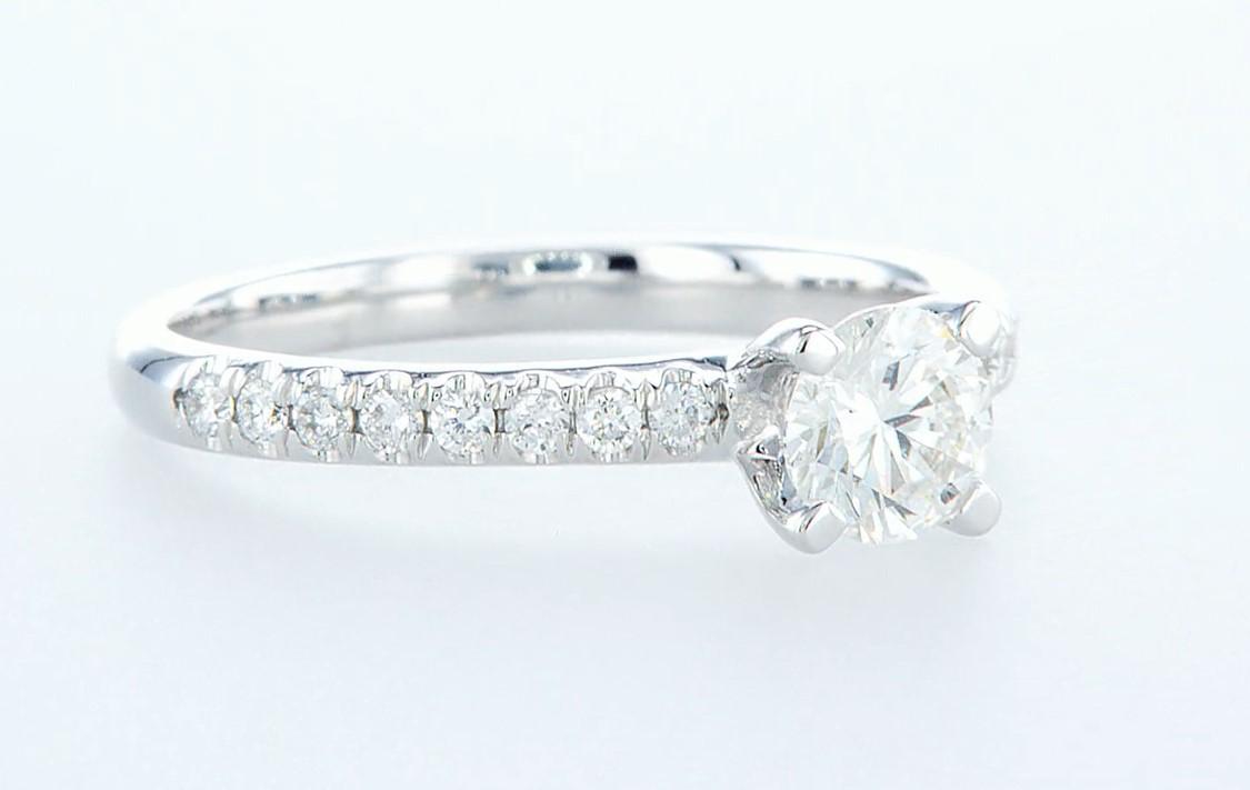 14 kt. White gold - Ring - 0.68 ct Diamond - Diamonds - Image 6 of 6