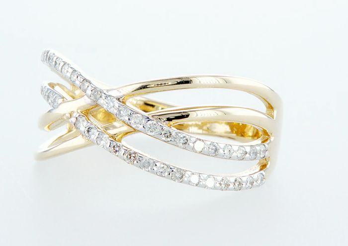 14K Yellow gold ring 0.33CTW - Image 3 of 3