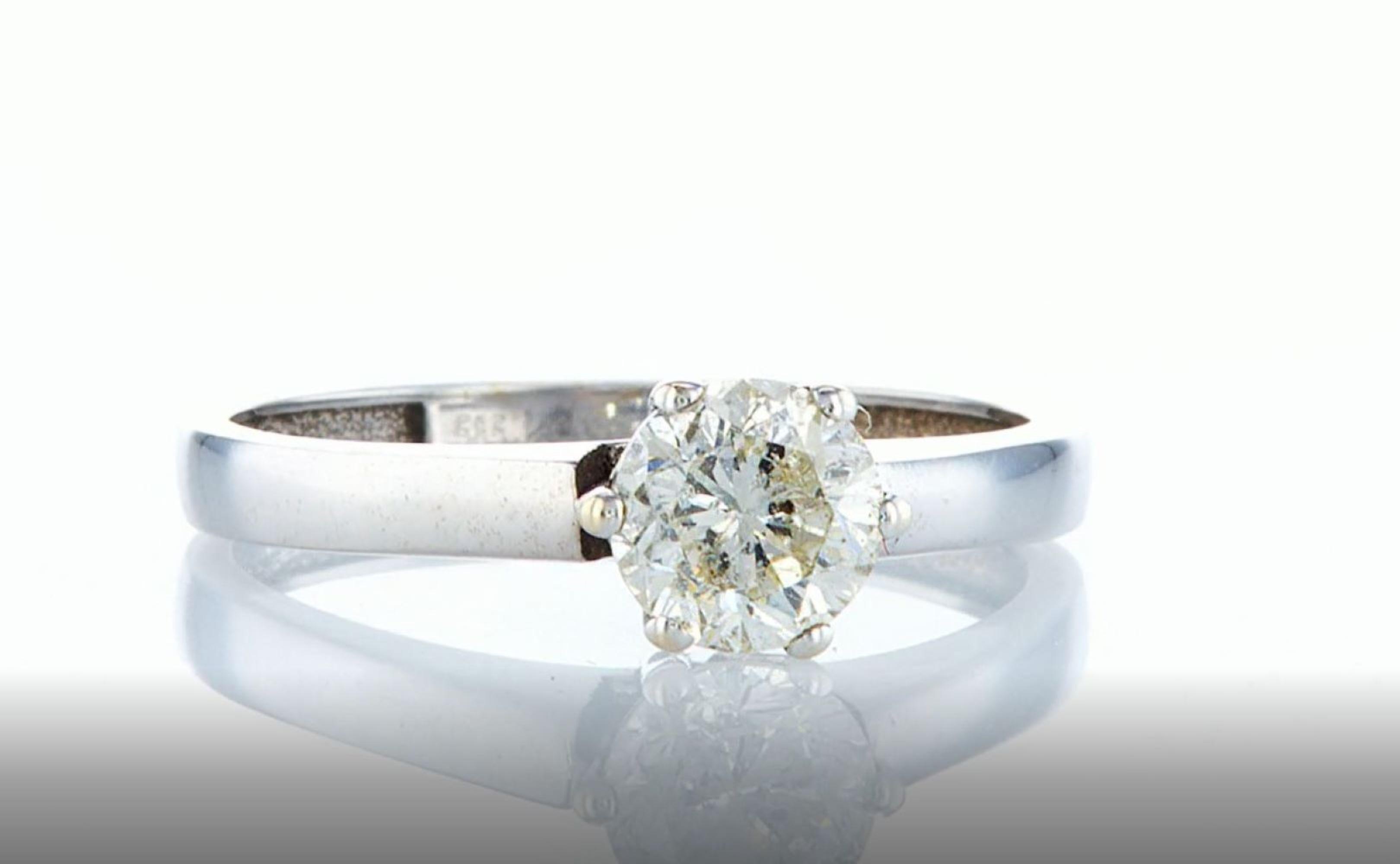 14K White gold ring 1.05CTW - Image 6 of 7
