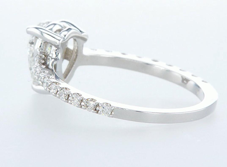 14 kt. White gold - Ring - 0.97 ct Diamond - Diamonds - Image 4 of 6