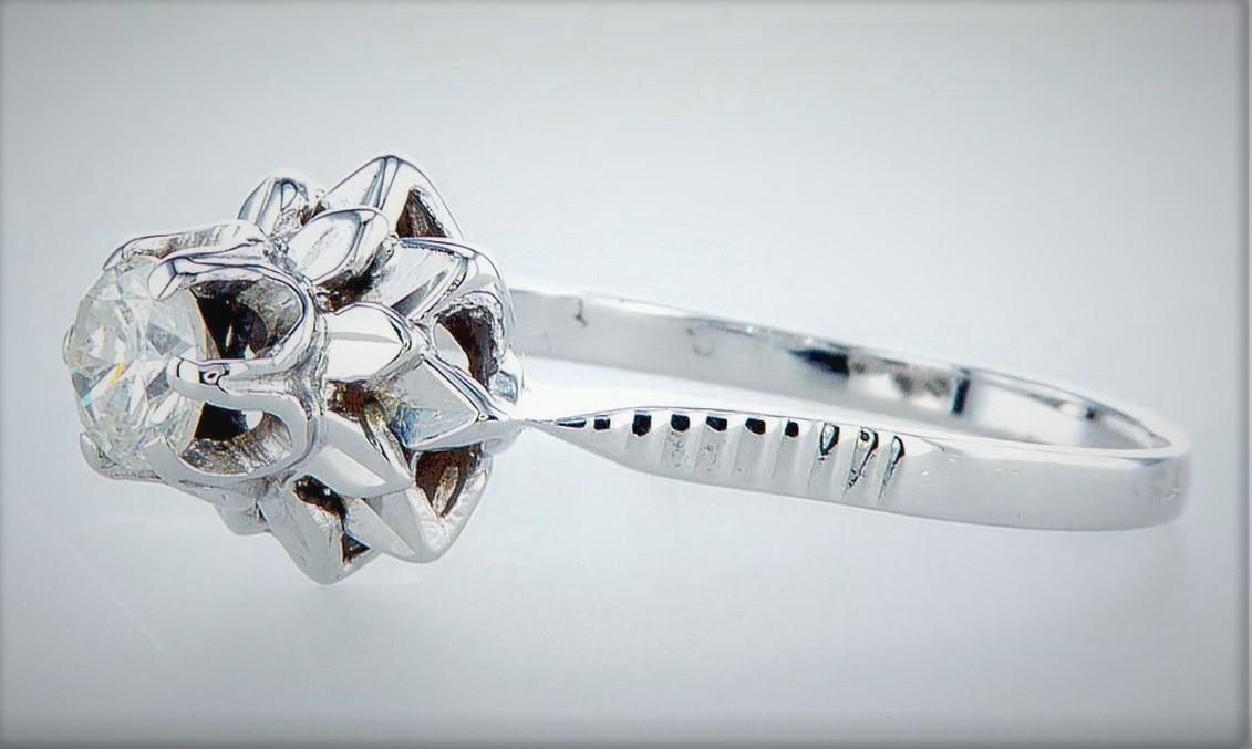 14 kt. White gold - Ring Diamond-0.45CTW - Image 2 of 5