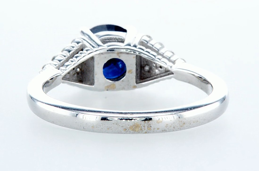 14 kt. White gold - Ring - 1.92 ct Sapphire - Diamonds - Image 5 of 6