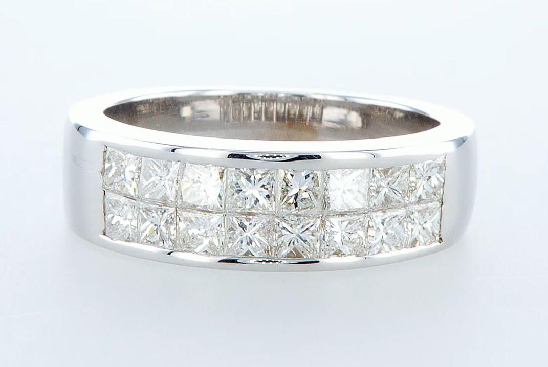 14 kt. White gold - Ring - 1.28 ct Diamond - Diamonds