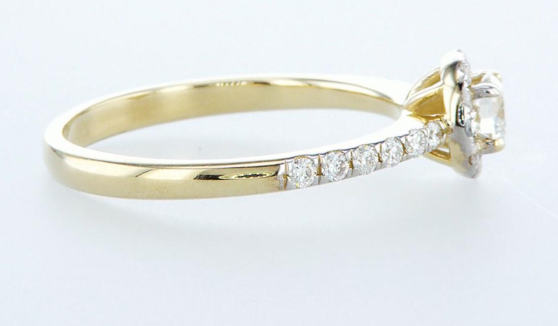 14 kt. Yellow gold - Ring - 0.61 ct Diamond - Diamonds - Image 6 of 6
