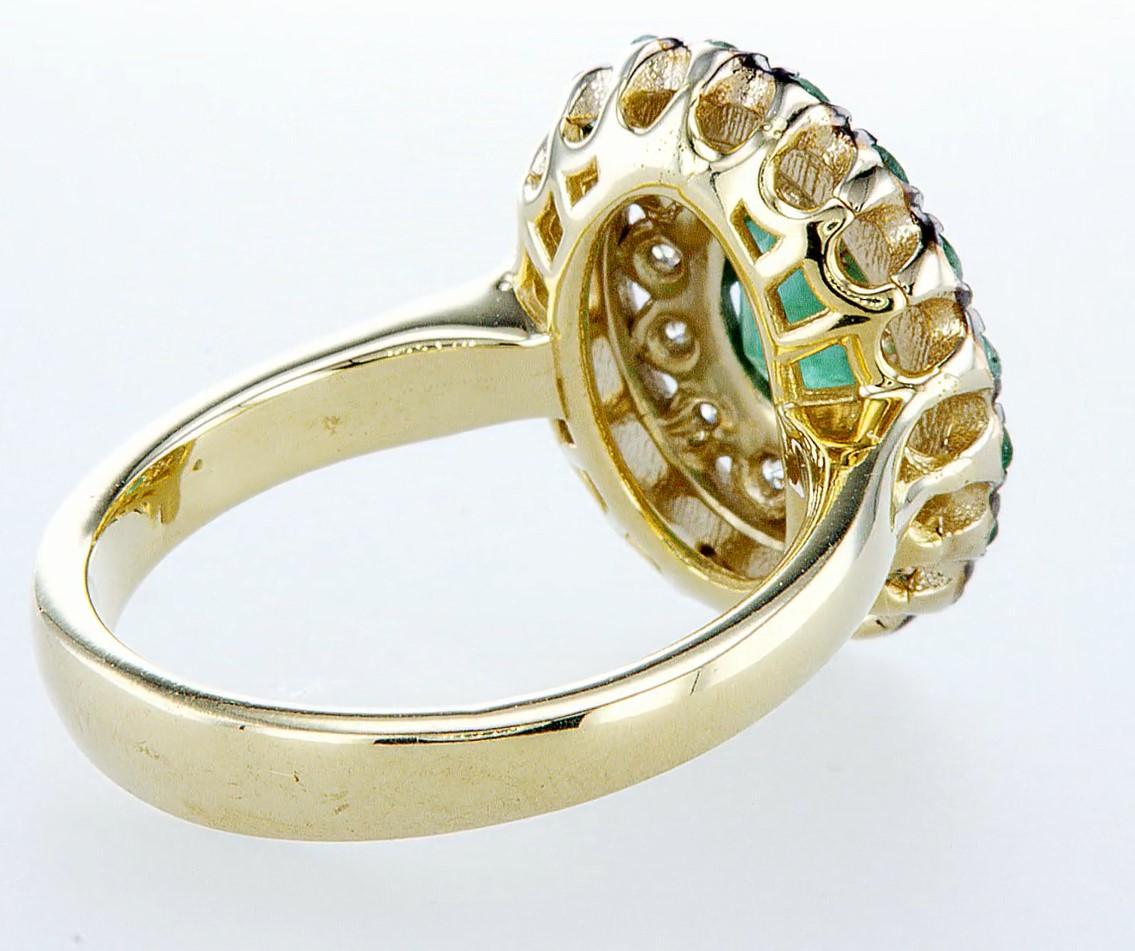 14 kt. White &Yellow gold - Ring - 2.14 ct Emerald - Diamonds - Image 6 of 6