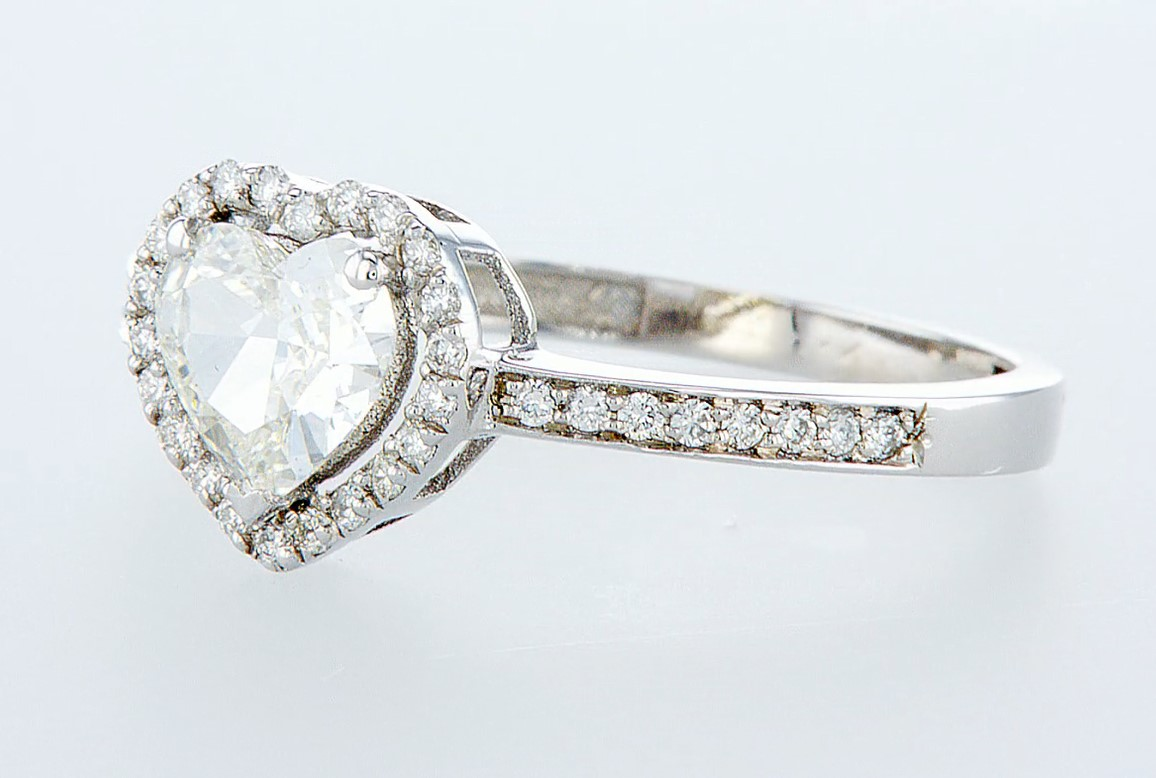 14 kt. White gold - Ring - 1.12 ct Diamond - Diamonds - Image 3 of 6