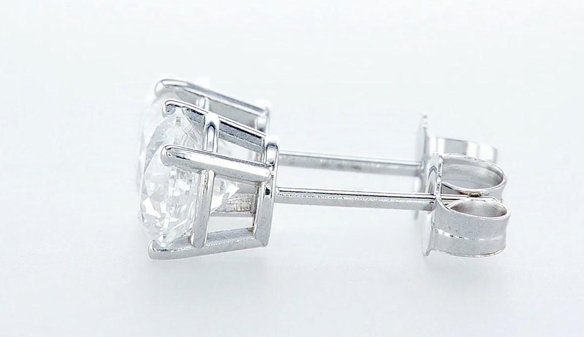 14 kt. White gold - Earrings - 2.00 ct Diamond - Diamonds - Image 4 of 6
