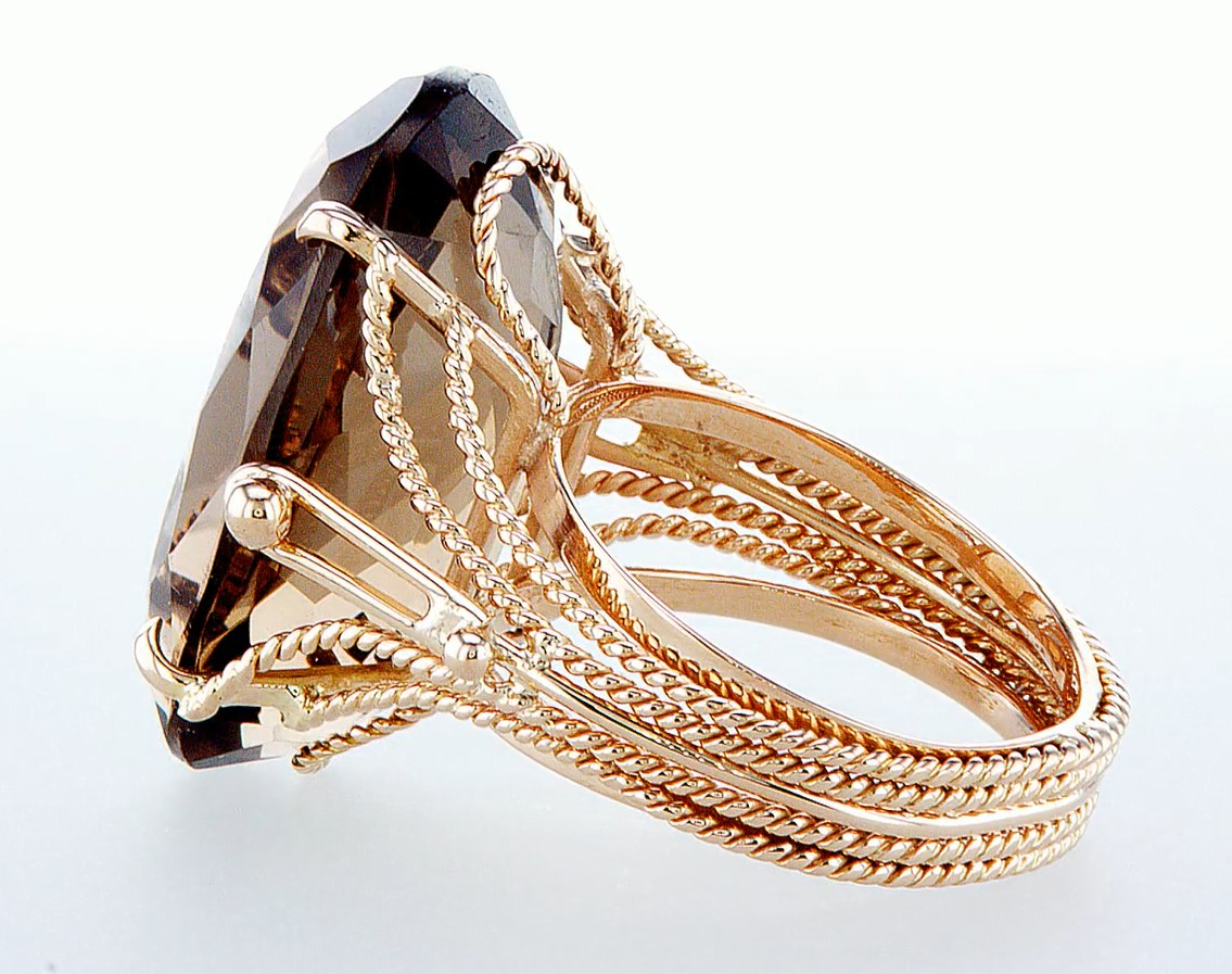 14 kt. Rose gold - Ring Diamond-26.80CTW - Image 4 of 6