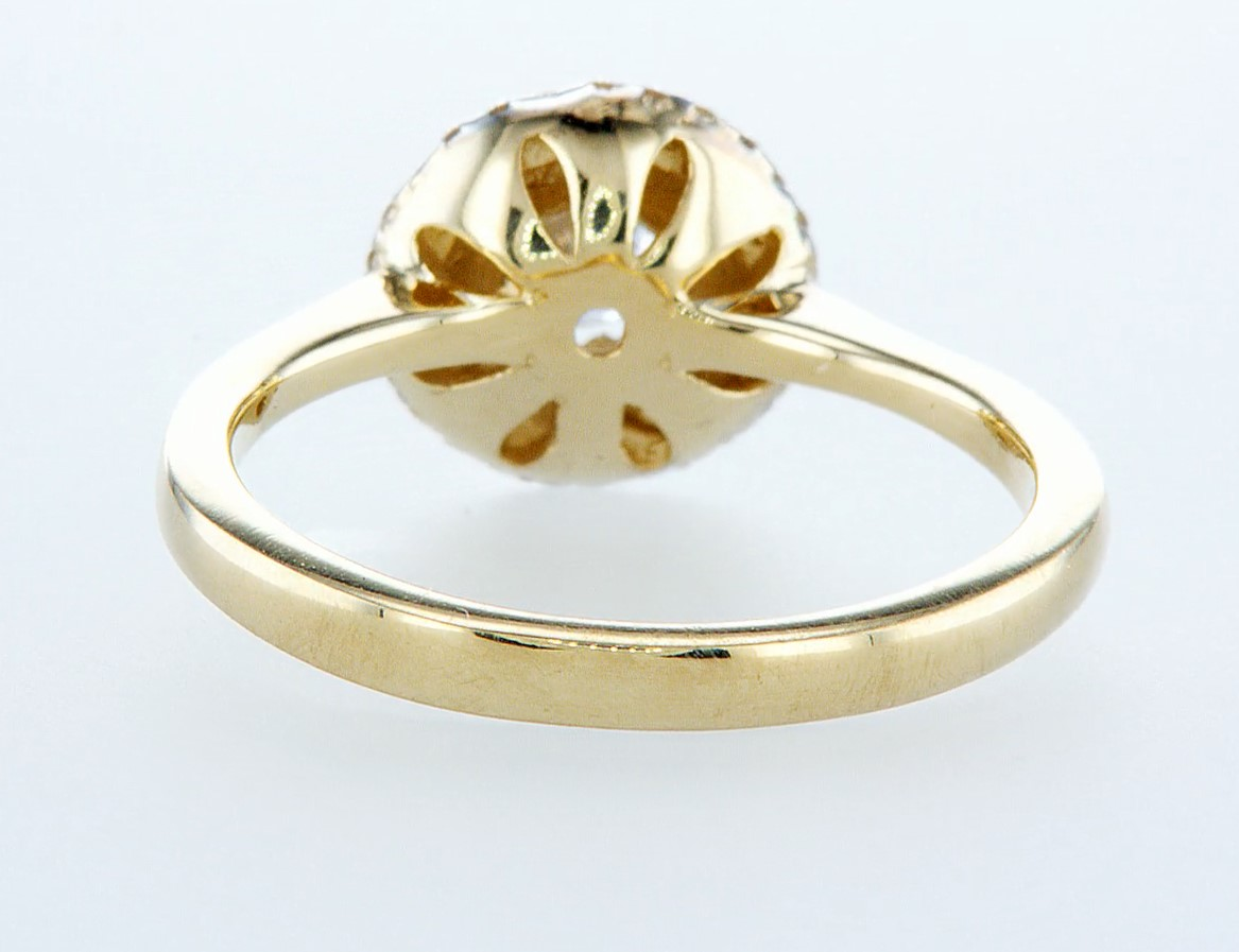14 kt. Yellow gold - Ring - 0.62 ct Diamond - Diamonds - Image 5 of 6