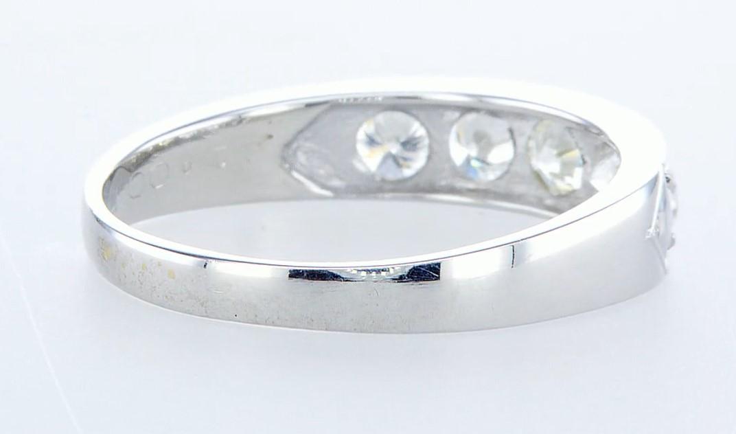 14 kt. White gold - Ring - 1.15 ct Diamond - Diamonds - Image 4 of 5