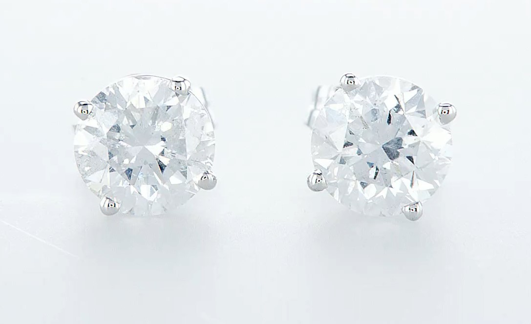 14 kt. White gold - Earrings - 2.00 ct Diamond - Diamonds - Image 2 of 6