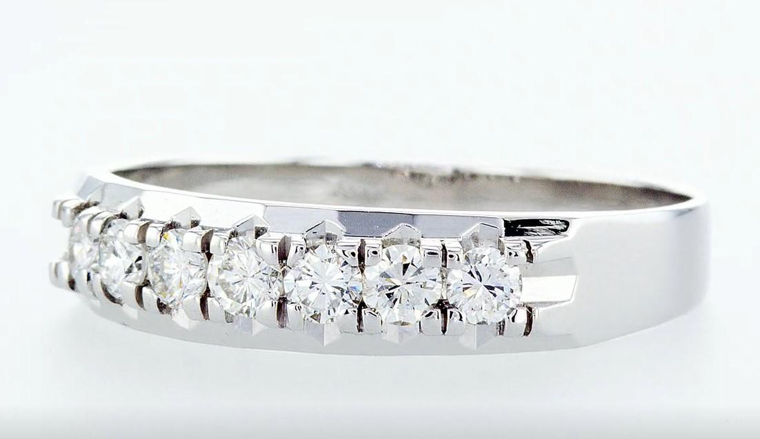 14 kt. White gold - Ring Diamond-0.49CTW - Image 4 of 6