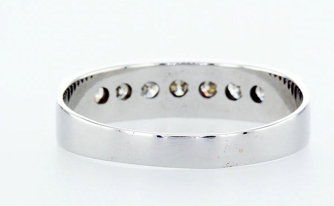 14 kt. White gold - Ring Diamond-0.49CTW - Image 5 of 6