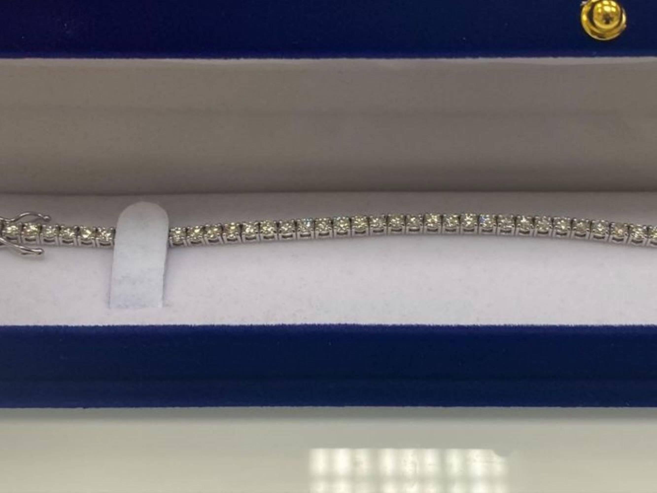 14 kt. White gold - Bracelet - 3.75 ct Diamond - Image 4 of 5