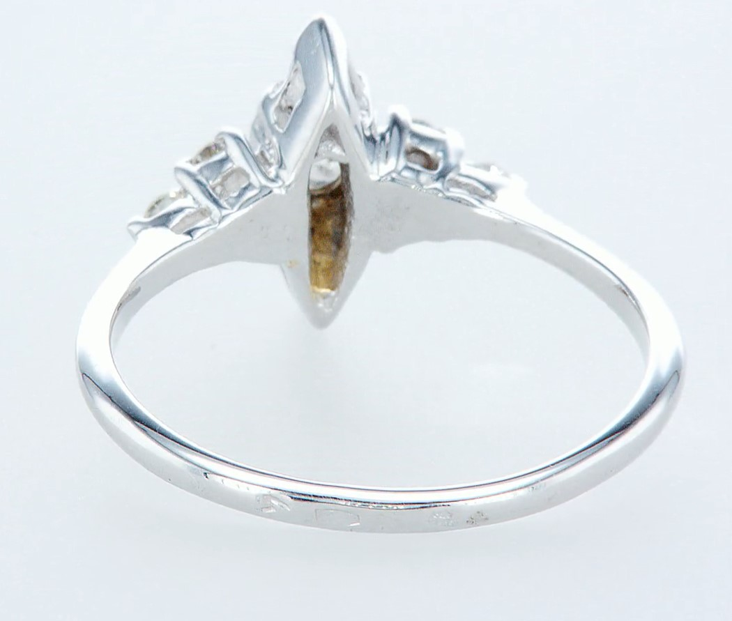14 kt. White gold - Ring Diamond-0.42CTW - Image 4 of 5