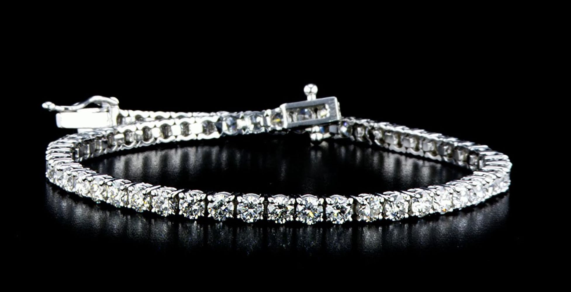 14 kt. White gold - Bracelet - 3.75 ct Diamond - Image 2 of 5