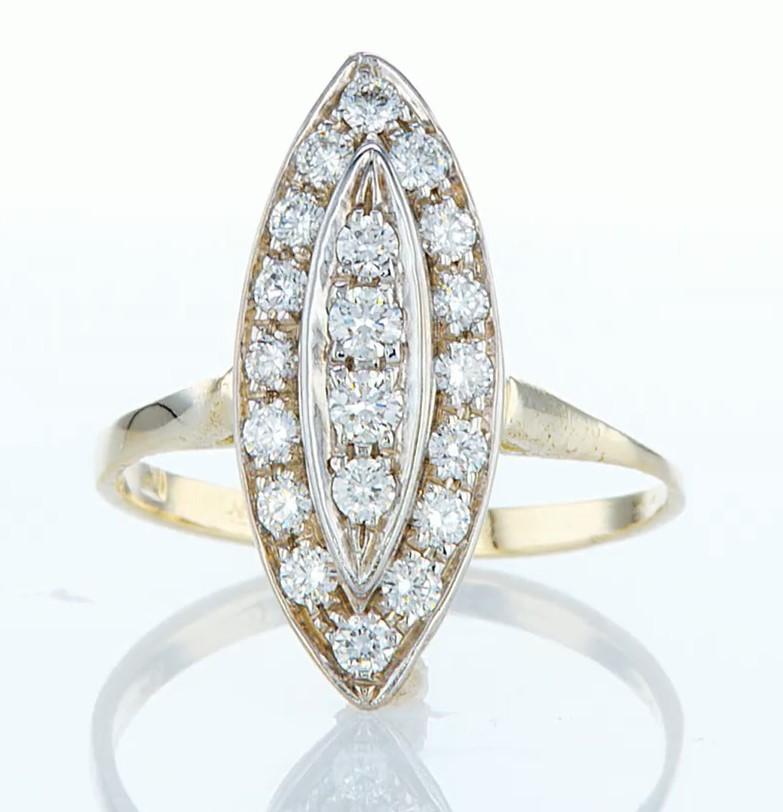 14 kt. Yellow gold - Ring - 0.46 ct Diamond - Diamonds