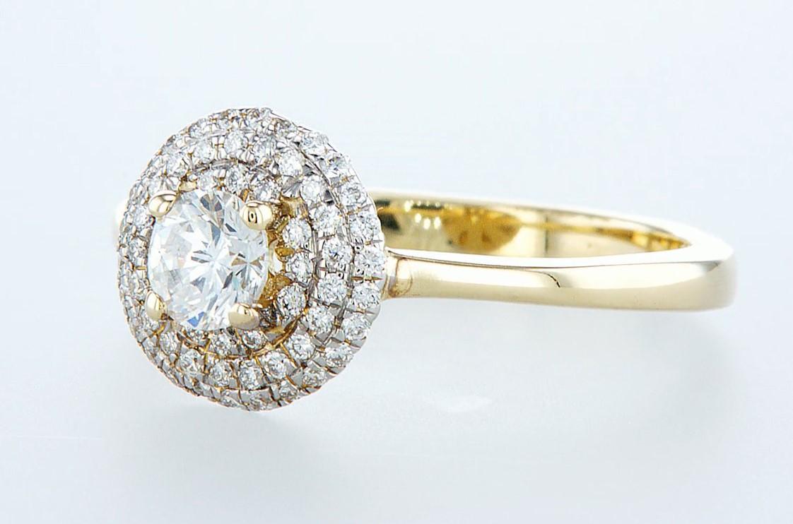 14 kt. Yellow gold - Ring - 0.62 ct Diamond - Diamonds - Image 3 of 6