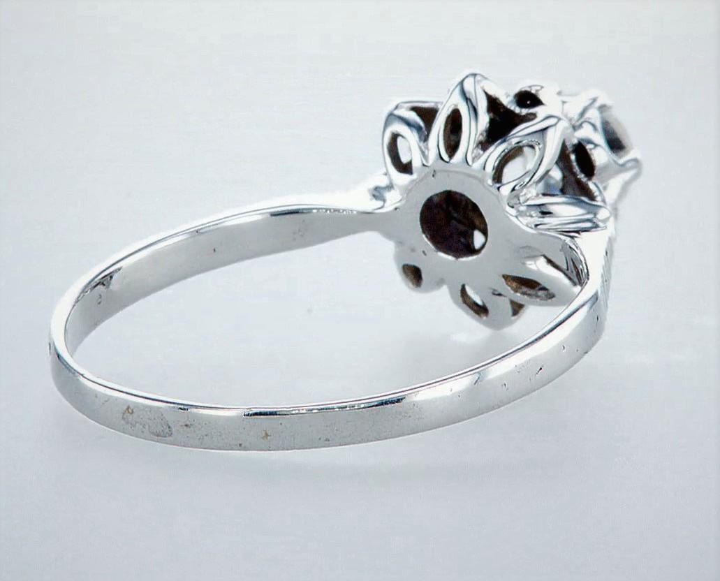 14 kt. White gold - Ring Diamond-0.45CTW - Image 4 of 5