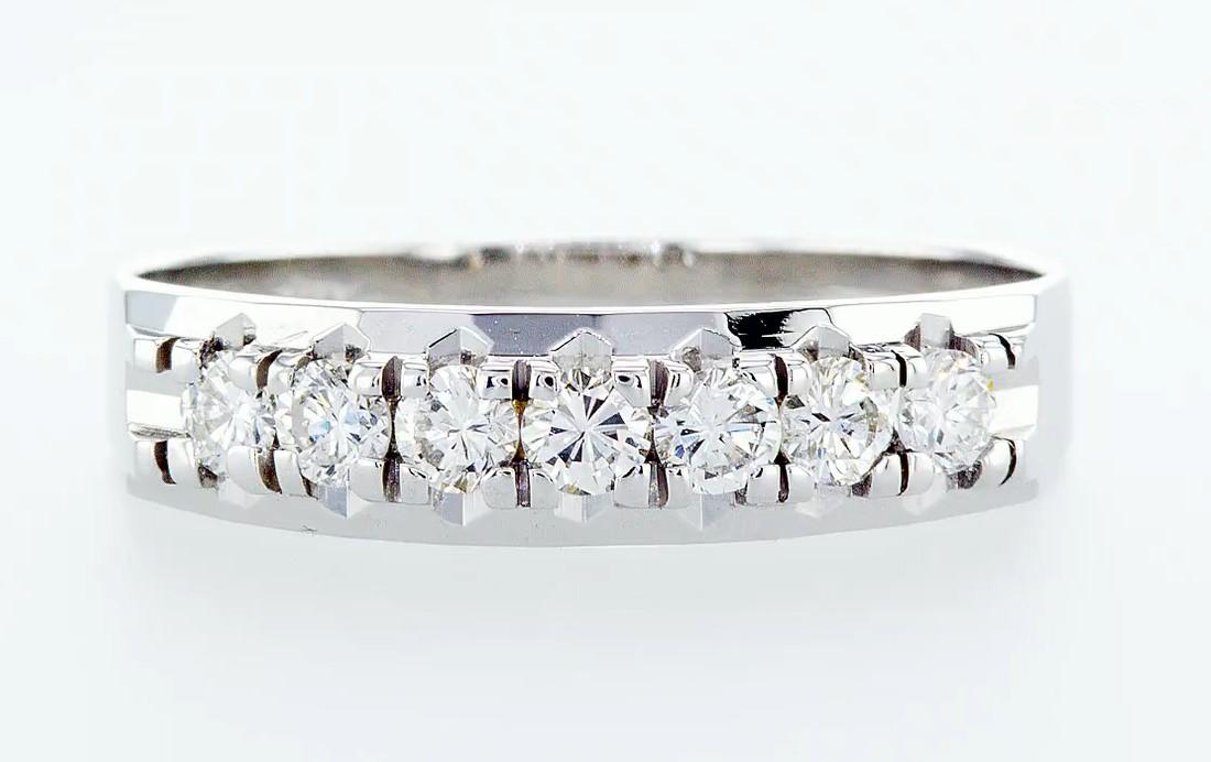 14 kt. White gold - Ring Diamond-0.49CTW - Image 3 of 6