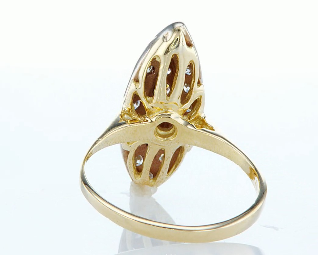 14 kt. Yellow gold - Ring - 0.46 ct Diamond - Diamonds - Image 5 of 7