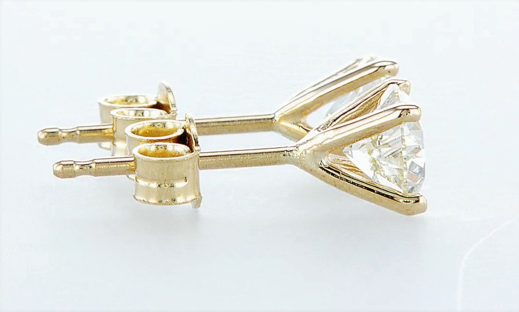 14 kt. Yellow gold - Earrings - 1.40 ct Diamond - Diamonds - Image 4 of 5
