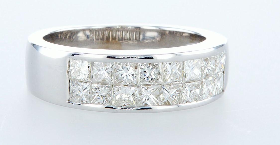 14 kt. White gold - Ring - 1.28 ct Diamond - Diamonds - Image 6 of 6