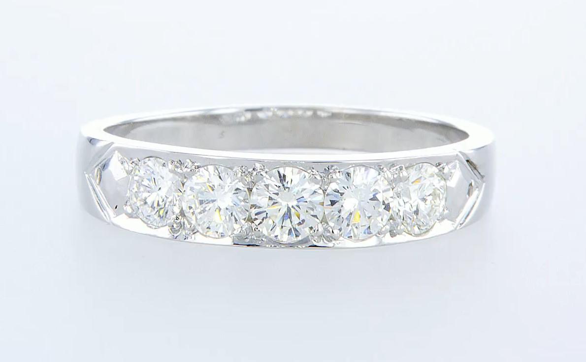 14 kt. White gold - Ring - 1.15 ct Diamond - Diamonds