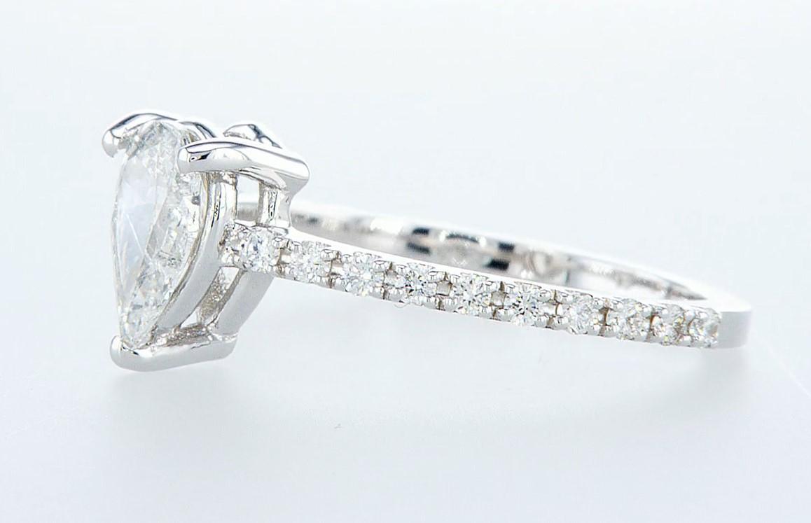 14 kt. White gold - Ring - 0.97 ct Diamond - Diamonds - Image 3 of 6