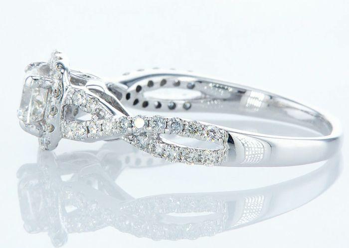 14K White gold ring 1.10CTW - Image 2 of 3