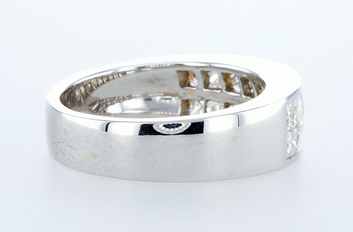 14 kt. White gold - Ring - 1.28 ct Diamond - Diamonds - Image 4 of 6