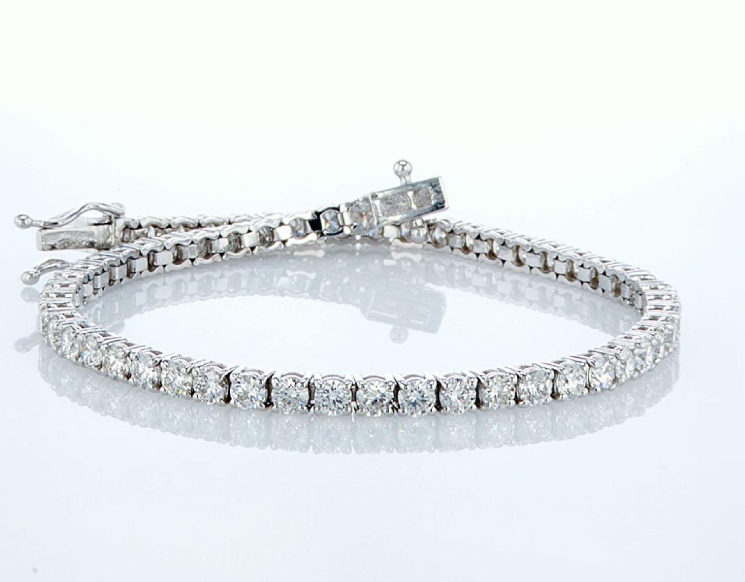 14 kt. White gold - Bracelet Diamond-4.08CTW - Image 2 of 4