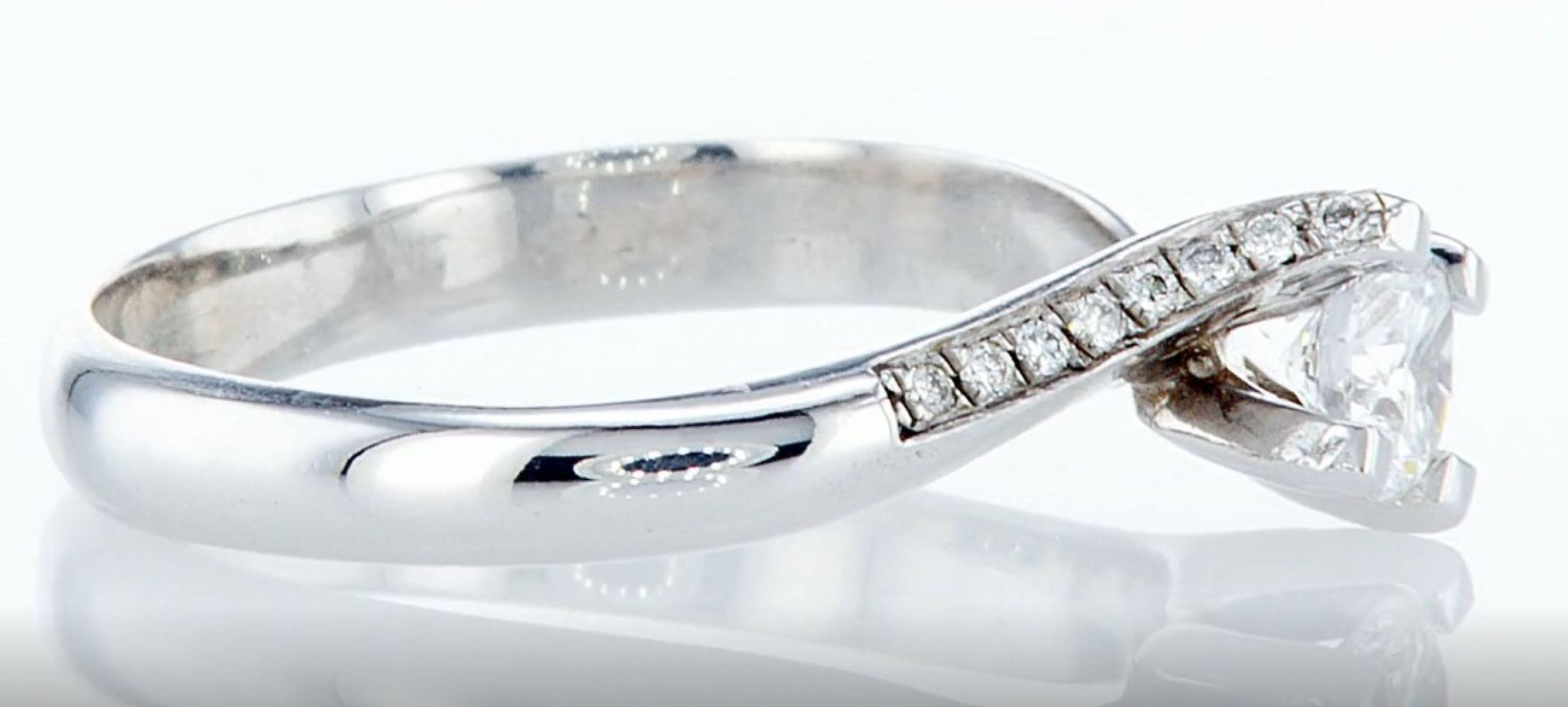 14 kt. White gold - Ring - 0.30 ct Diamond - Diamonds - Image 5 of 7