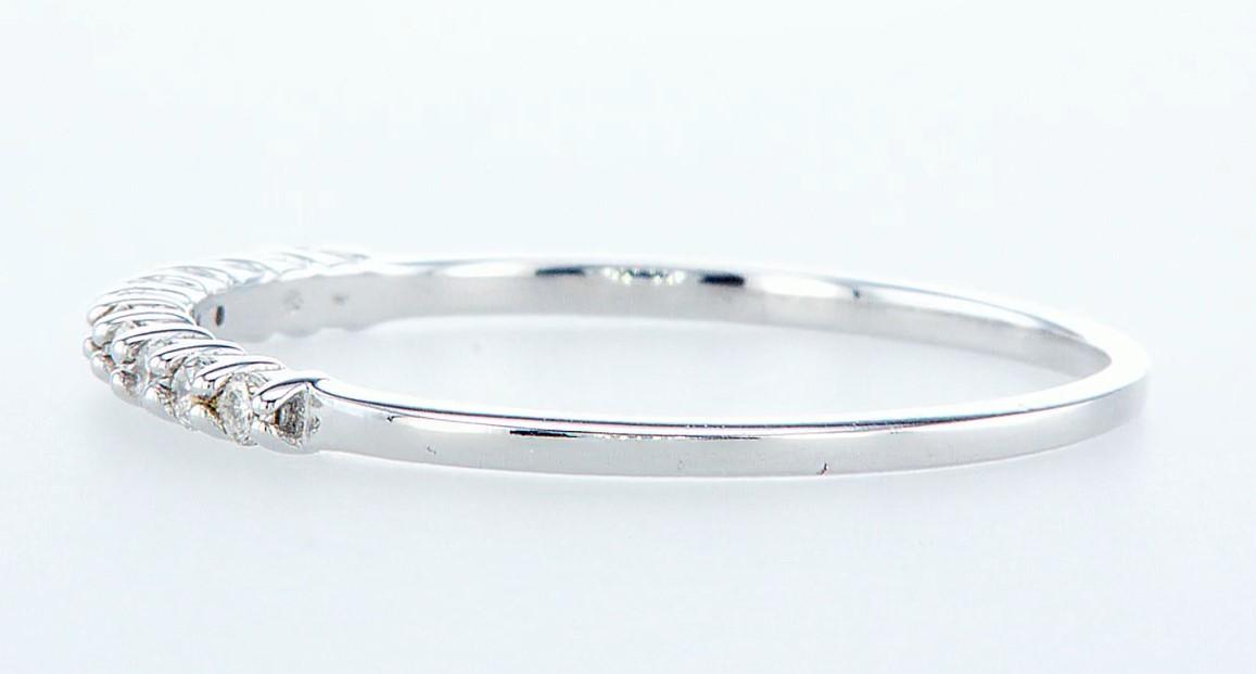 14 kt. White gold - Ring Diamond-0.22CTW - Image 3 of 3