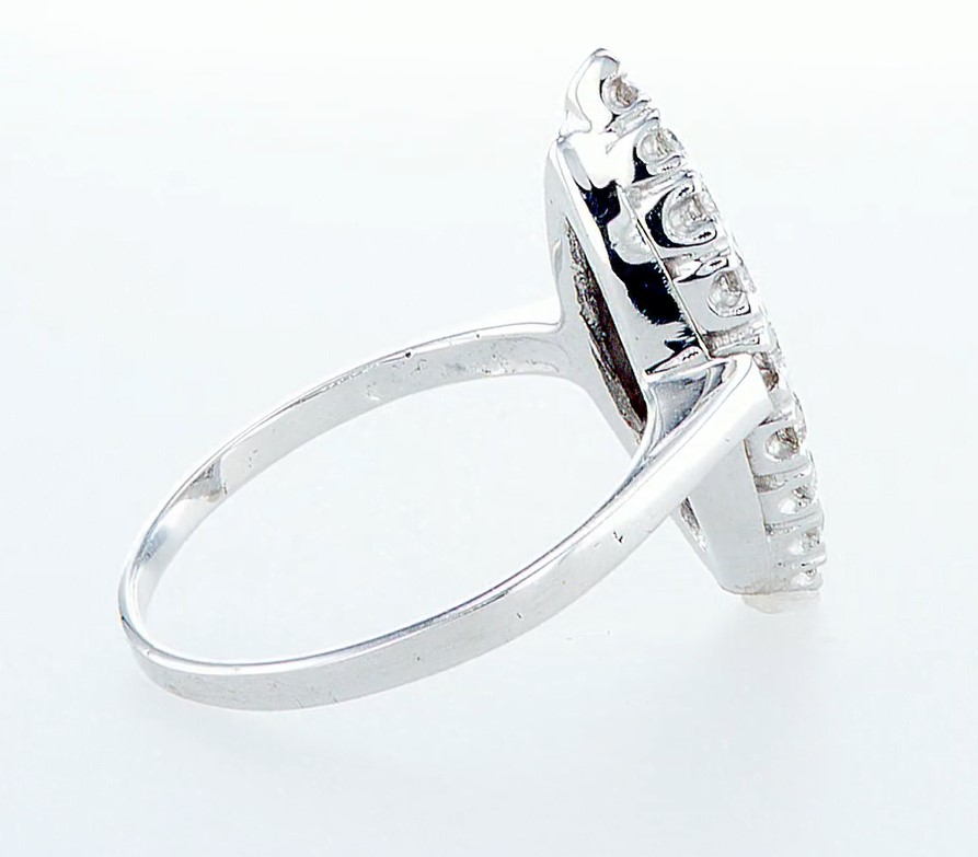 14 kt. White gold - Ring - 0.96 ct Diamond - Diamonds - Image 6 of 6