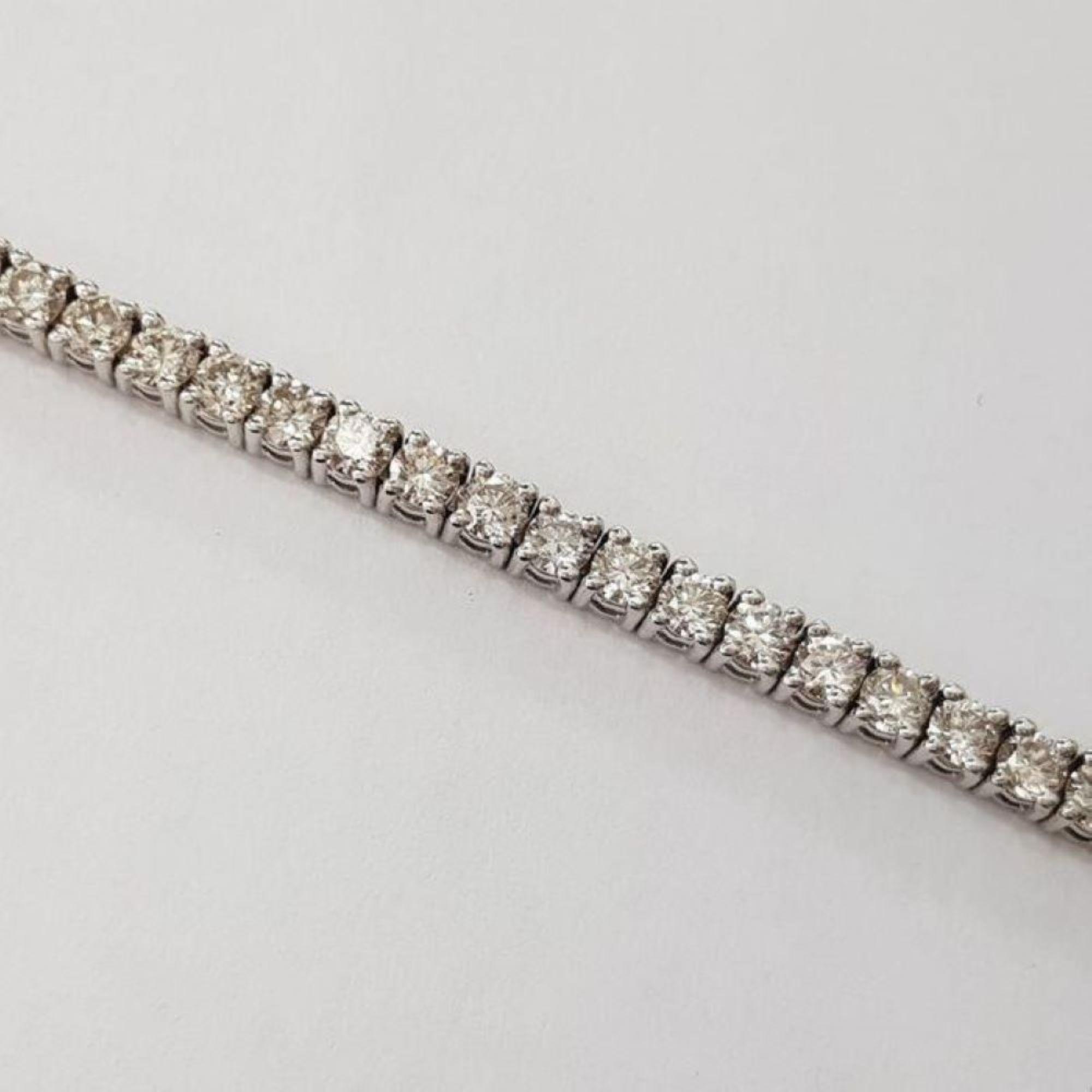 14 kt. White gold - Bracelet - 3.75 ct Diamond - Image 3 of 5