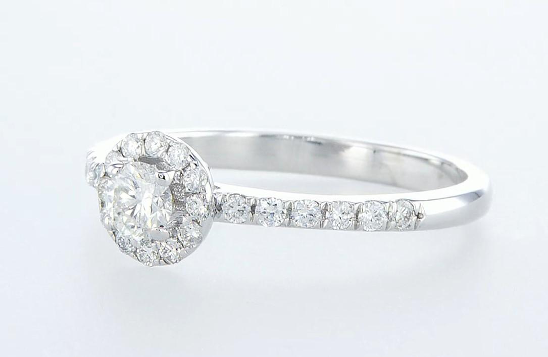 14 kt. White gold - Ring - 0.26 ct Diamond - Diamonds - Image 4 of 6