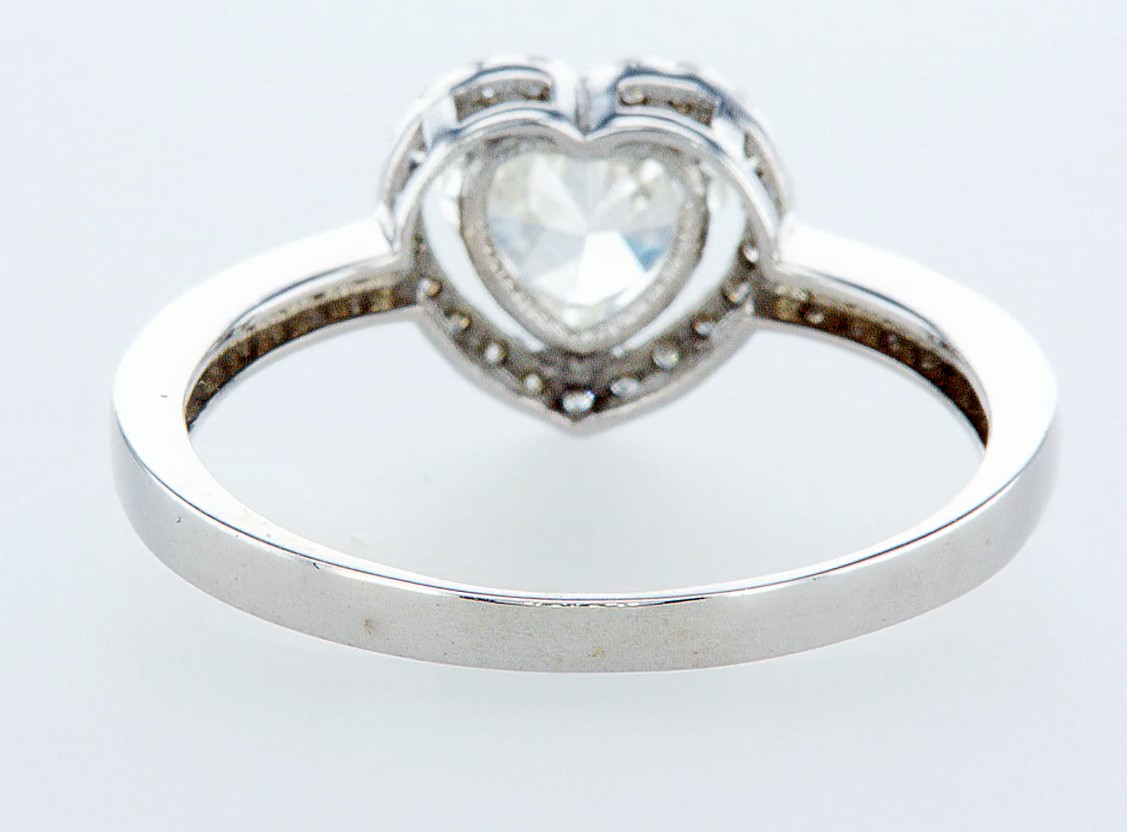 14 kt. White gold - Ring - 1.12 ct Diamond - Diamonds - Image 5 of 6