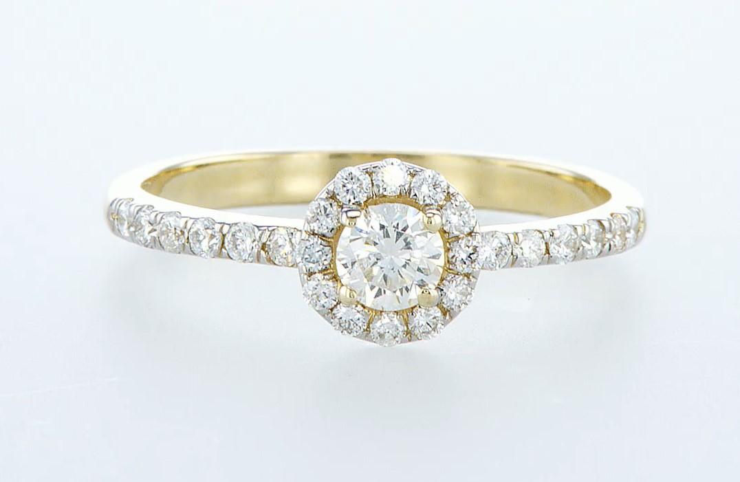 14 kt. Yellow gold - Ring - 0.61 ct Diamond - Diamonds