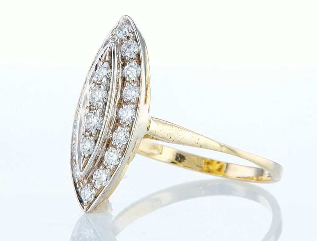 14 kt. Yellow gold - Ring - 0.46 ct Diamond - Diamonds - Image 3 of 7