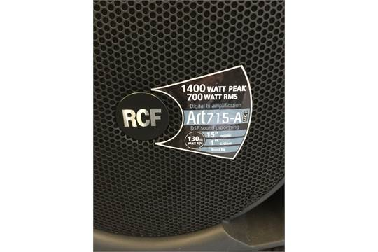 RCF SPEAKERS - pair of RCF ART 715A MKII 15