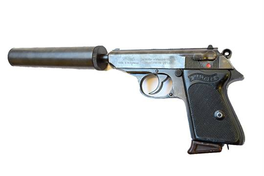 A  22 cal German Walther PPK semi-automatic pistol with