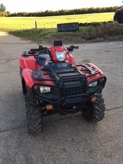 Lot 14 - Honda trx 500 fm, 2015 plate, road lights fitted, 2,124 hours, V5, Reg: A715 A03,