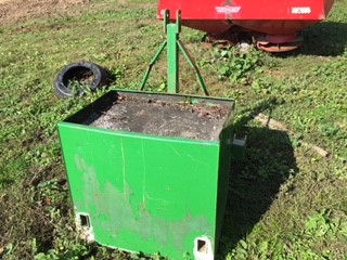 Lot 19 - Three point linkage weight box,