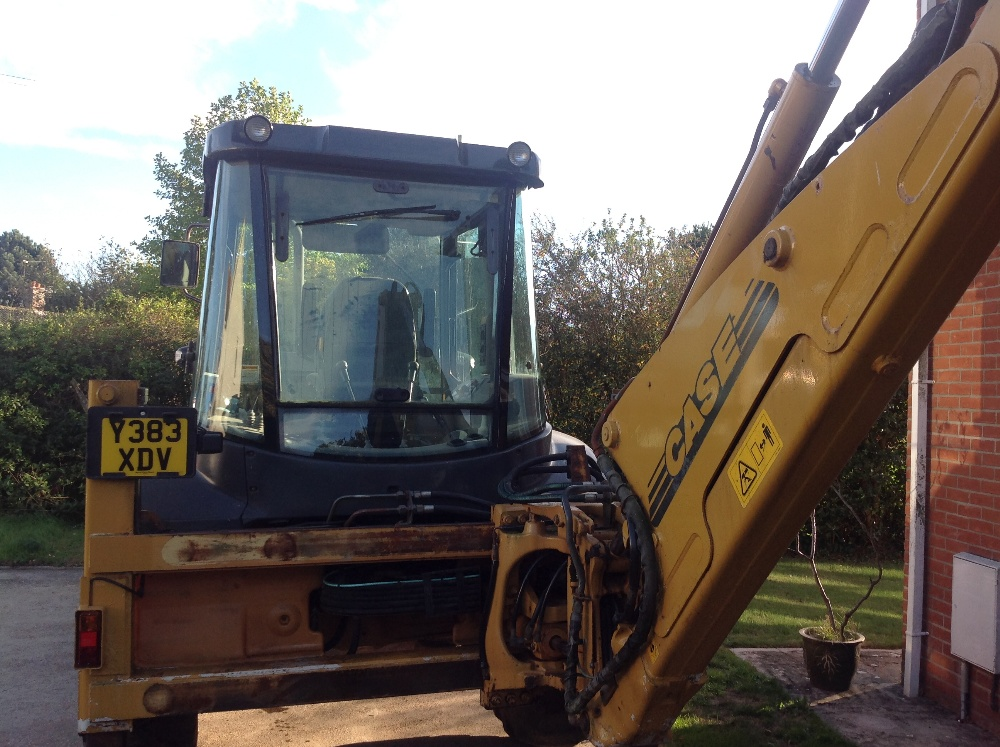 Lot 12 - Case 595SLE Backhoe Loader, 4 in 1 front bucket with forks, telescopic rear dipper with 3 buckets,