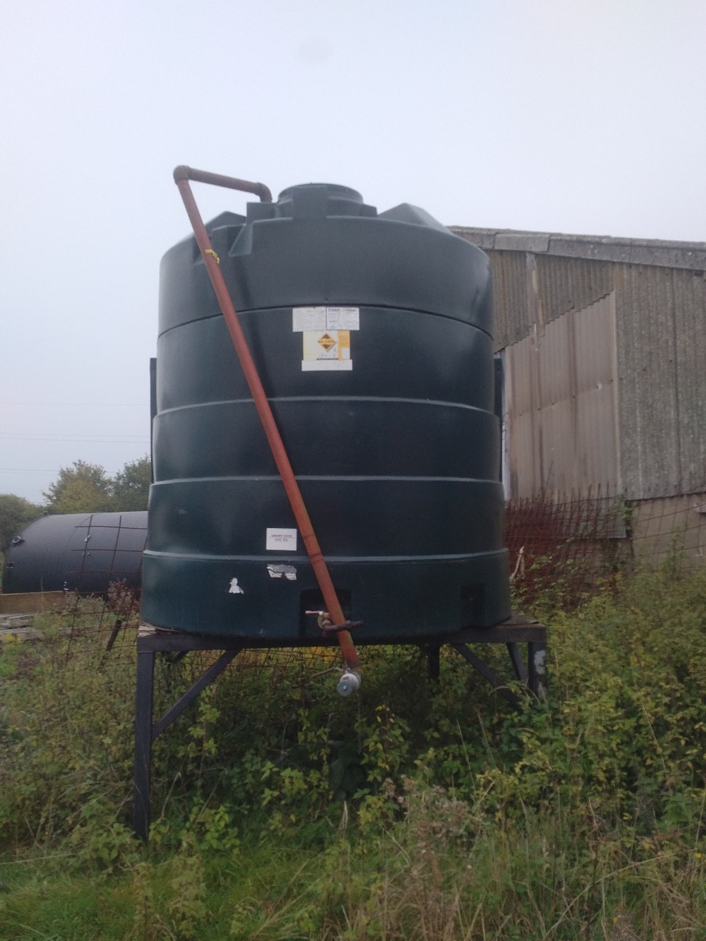 Lot 9 - 5000 Litre plastic diesel tank and stand Stored near Eye No VAT on this item